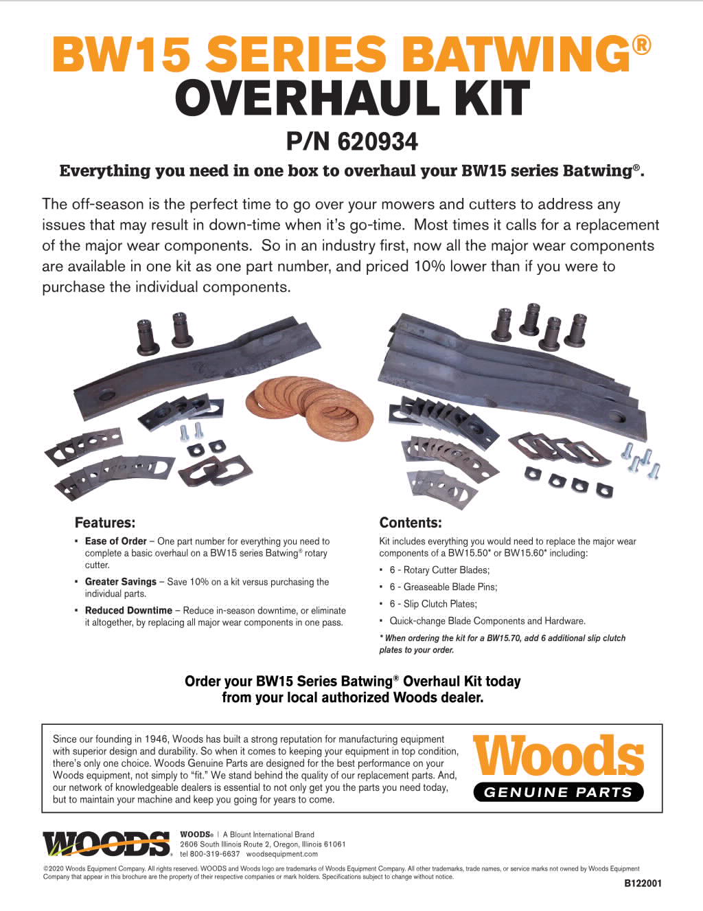 BW15 Series Overhaul Kit