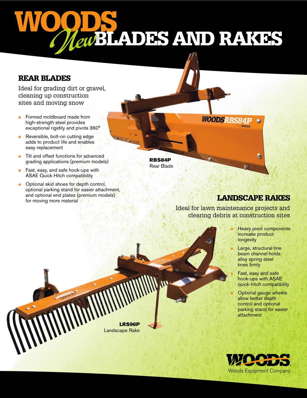 Blades and Rakes Brochure