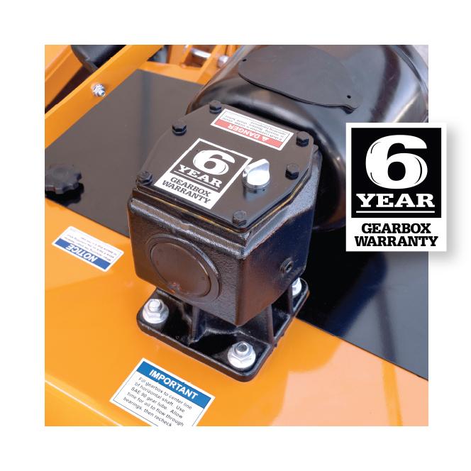 Turfkeeper Pro™ 6-year Gearbox Warranty