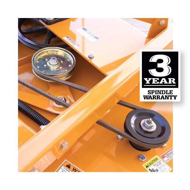 Turfkeeper Pro™ 3-year Spindle Warranty